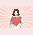 love valentines day and heart concept vector image