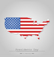 map united state on a gray background vector image vector image