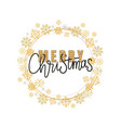 merry christmas calligraphy doodle isolated vector image vector image