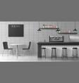 modern coffee shop loft interior realistic vector image