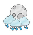 moon and cloud icon vector image vector image