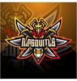 mosquito esport mascot logo design vector image