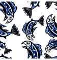 native salmon seamless pattern vector image vector image