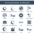 night icons vector image vector image