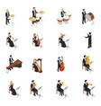 orchestra people set vector image