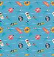 people swimming in sea seamless pattern background vector image vector image