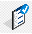 plan is executed isometric icon vector image vector image