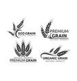 premium grain flat logotype in black vector image