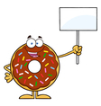 Protesting Donut Cartoon vector image vector image