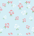 red and white roses seamless pattern dsign vector image