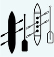 Rowers boat sports vector image vector image