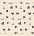 seamless pattern film frame vector image vector image
