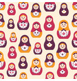 seamless pattern with traditional russian folk vector image