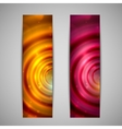 set of abstract holiday glowing banners vector image vector image