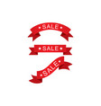 set sale ribbon vector image vector image