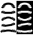 set the white and black insulated flat ribbon vector image vector image