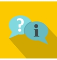 Speech bubbles icon flat style vector image vector image