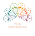 template of colorful semicircle from lines for vector image vector image