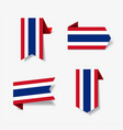 thai flag stickers and labels vector image