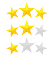 three star rating vector image vector image
