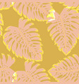 tropical seamless pattern with leaf monstera vector image vector image
