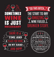 wine saying quote set 100 best for print vector image vector image