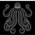 zentangle octopus print for adult coloring vector image vector image