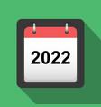 2022 calendar flat icon title page of calendar vector image
