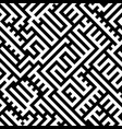abstract maze labyrinth seamless pattern black vector image