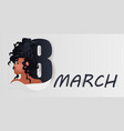 african american girl with eight number vector image
