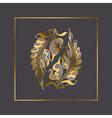 Art Nouveau style element vector image vector image