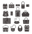 Bags icons set vector image vector image