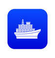 big ship icon digital blue vector image vector image