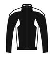 bike jacket icon simple style vector image