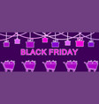 black friday hanging gift boxes celebratory vector image vector image