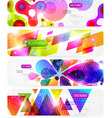 Bright Abstract Header Set for Design vector image