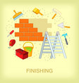building process concept place cartoon style vector image