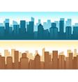 buildings flat cityscape vector image
