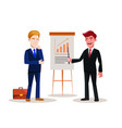 business people at work businessman present vector image