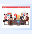 business seminar meeting professionals experts vector image vector image