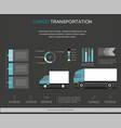 cargo logistics service infographic design vector image vector image