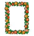 cartoon flower frame vector image vector image