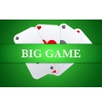 Casino playing card background vector image