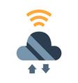 cloud server flat vector image