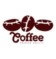 coffee seeds closeup flat icon isolated vector image