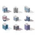collection isometric offices town apartment vector image vector image