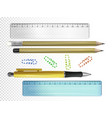 college or school stationery vector image vector image