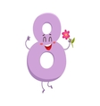 Cute and funny colorful 8 number characters vector image vector image