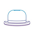 degraded line fashion hat object carnival style vector image