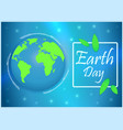 earth day with the words vector image vector image
